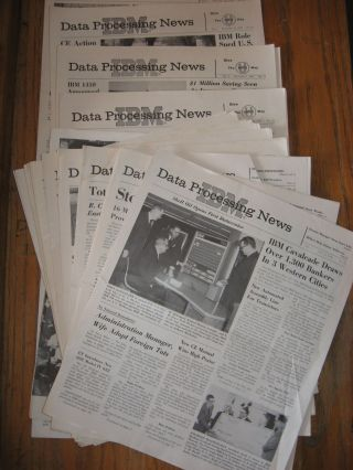IBM Data Processing News -- 16 individual issues, var. from February 1960 through December 1960. IBM