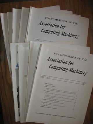 Communications of the ACM -- 1959, 9 separate issues of the 1959 volume 2. ACM Association for...