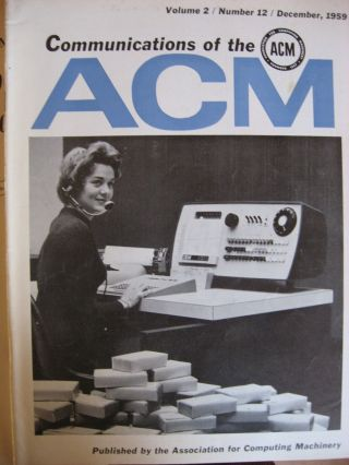 Communications of the ACM -- 1959, 9 separate issues of the 1959 volume 2