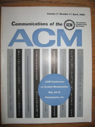 Recursive Functions of Symbolic Expressions and Their Computation by Machine, Part I, in Communications of the ACM volume 3, number 4, April 1960. John McCarthy.