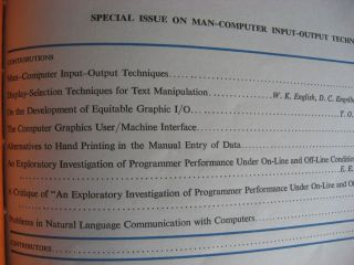 Display-Selection Techniques for Text Manipulation, in, IEEE Transactions on Human Factors in Electronics, March 1967, bound with other issues