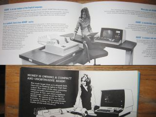 2 advertising brochures for ADAM computers, manufactured by Logical Machine Corporation (LOMAC)
