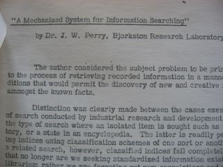What is Wrong with Cards and Tapes, December 21, 1953, Technical Report, IBM Engineering Laboratory