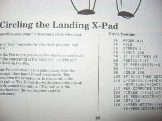 TRS-80 X-Pad Model GT-116 Owner's Manual, for color computer