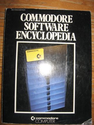Commodore Software Encyclopedia, second edition 1981. Commodore Computer.