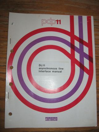 PDP11 -- DL11 Asynchronous Line Interface Manual, 1975. DEC, Digital Equipment Corporation.