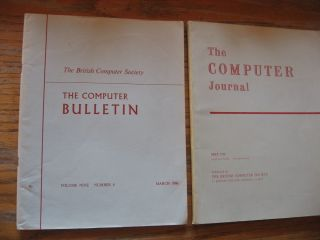 The Computer Journal, 2 issues from 1966 -- March 1966 volume 9 number 4 The Computer Bulletin;...