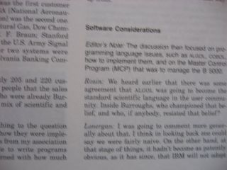 Special Issue, The Burroughs B 5000; volume 9 number 1, 1987, of the Annals of the History of Computing magazine