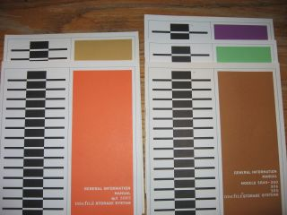 Series of 5 (five) manuals (see list) from February 1965 to October 1965. Data Products Corporation