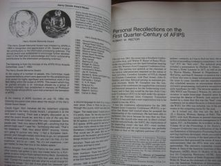 Annals of the History of Computing, Special Issue, AFIPS 1961-1986, 25th anniversary; Volume 8 number 3, July 1986