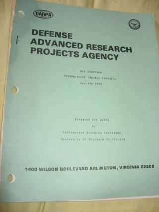 DoD Standard Transmission Control Protocol, TCP, January 1980, DARPA document RFC 761. Jon Postel