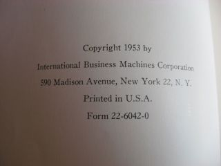 Principles of Operation, Type 701 and associated equipment, IBM Data Electronic data processing machines