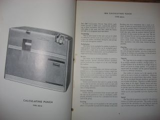 IBM Electric Punched Card Accounting Machines Principles of Operation -- Calculating Punch Type 602-A, 1948, 1949