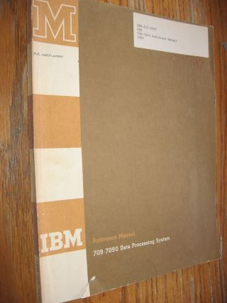 Reference Manual 709-1090 Data Processing System 1959. IBM