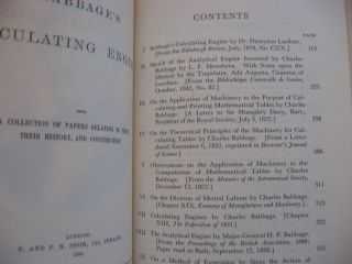 Charles Babbage and his Calculating Engines -- selected writings by Charles Babbage and Others