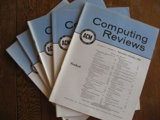 Computing Reviews 1961, volume 2 numbers 1 through 5 (individual issues, January through October...