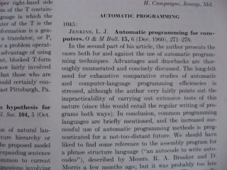 Computing Reviews 1961, volume 2 numbers 1 through 5 (individual issues, January through October inclusive)