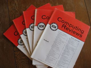 Computing Reviews volume 3 1962 -- 5 issues, March-December inclusive, five individual issues. ACM.