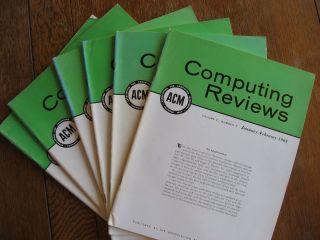 Computing Reviews 1963, volume 4 January through December inclusive (six individual issues). ACM