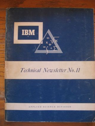 IBM Technical Newsletter No. 11, A complete floating-decimal interpretative system for the IBM...