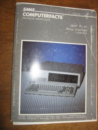 Computerfacts technical service data, IBM PC-XT Model 5160-086 Computer. n/a