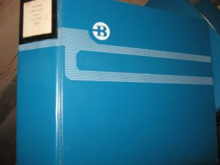 Burroughs B1700/B1800 software product specs, manuals -- 11 binders; Oversized and heavy - additional shipping charges will apply