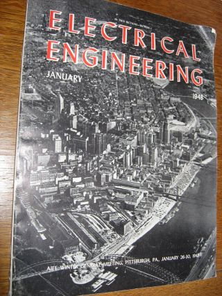 Calculating Machines, in, Electrical Engineering magazine, January 1948, whole separate issue; article pp. 6-12. Robert C. Tumbleson.
