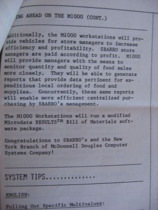 2 newsletters, January-February 1985, and June-July 1985 (Philadelphia Branch) one announcing Microdata/McDonnell Douglas
