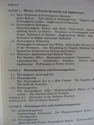 Microwave Ferrites and Ferrimagnetics; Lincoln Laboratory Publications