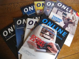 Online Today magazine, 8 issues various 1987 and 1988. Compuserve