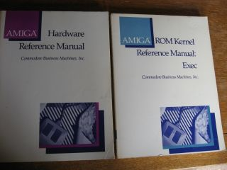 Amiga Hardware Reference Manual; AND ROM Kernel Reference Manual - Exec; 2 manuals. inc Commodore...