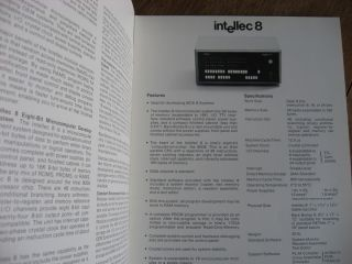 Brochure for Intellec 8 / Intellec 4 -- 8 page product brochure circa 1970s