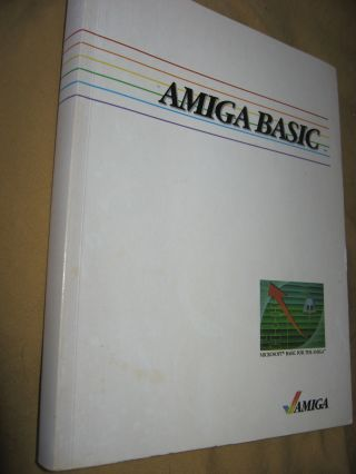Amiga Basic. Commodore Amiga