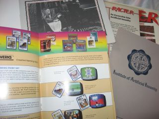 Racter -- tongue-in-chip software (NOTE - binder, booklet etc. ONLY - No Disk)