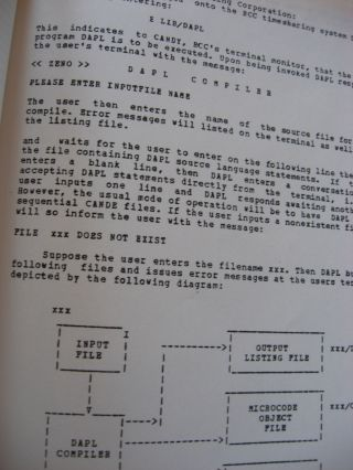 DAPL User's Manual, 1977, microprogramming for the AMD 2900, the Fairchild 9400 Macrologic, and the Motorola 10800 4-bit microprocessors