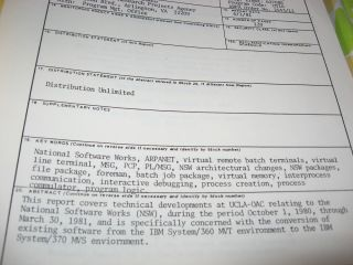 Converting NSW from MVT to MVS, semi-annual technical report, 1980-1981