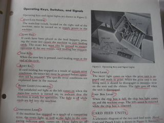 Contents include, Introd. to data processing; Problems and solutios -- reproducing; gangpunching; detail printing and adding; selective list of error cards, card punching and card selection; payroll check and earnings etc; Introduction to Tape Records, updating a tape file