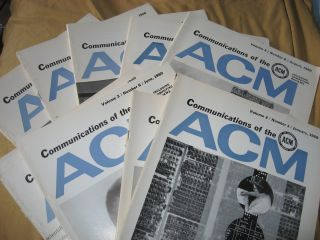 Communications of the ACM, 1960, various individual issues, 9 issues monthly see list; volume 3...