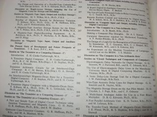 The Manchester University Mark II digital-computing machine, in, Proceedings of the Institution of Electrical Engineers, DIgital Computer Techniques Volume 103, 1956 (See List Below)