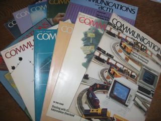 Communications of the ACM 1985, 11 individual issues (missing October) volume 28. ACM