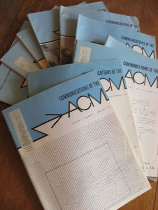 Communications of the ACM, 1964, 10 individual issues; volume 7 numbers 1-10 inclusive. ACM