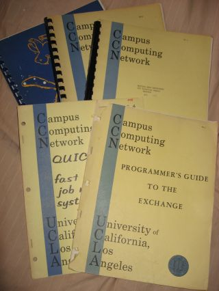 5 manuals from Campus Computing Network UCLA (see list below) including technical report,...