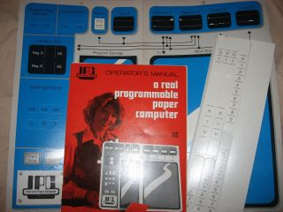 Instructo Paper Computer, IPC, Operator's Manual plus cut-outs, A Real Programmable Paper...